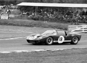 Ford GT40 Spyder. Peter Sutcliffe 1966 Brands Hatch